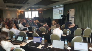 Brett McIness (CEO) presenting to the Plant Communications Dealers